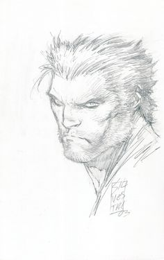 Wolverine Sketch by Marc Silvestri