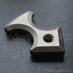 Outdoor TC4 Titanium Ti Key Chain Ring Tactical Survival Self defense EDC Tool