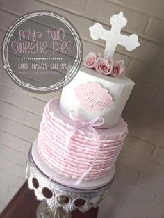Confirmation cake for girl Beautiful Cakes, Amazing Cakes, Christening Cake Girls, Confirmation Cakes, Religious Cakes, First Communion Cakes, Elegant Cakes, Occasion Cakes, Girl Cakes