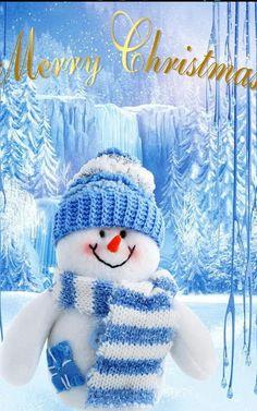 I love snowman Merry Christmas To All, Blue Christmas, Christmas Holidays, Christmas Decorations, Christmas Things, Tree Decorations, Xmas, Snowman Wallpaper, Cute Christmas Wallpaper