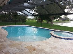 Extend Pavers On Yard Side Of Pool Cage Would Help Keep