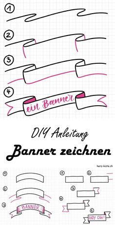 Letter Lovers: myfancyletters zu Gast im Lettering Interview Learn how to easily draw different banners with this guide. Enhance your hand lettering with a banner and highlight certain words or sentences. Banners always go. Bullet Journal Lettering Ideas, Bullet Journal Banner, Bullet Journal Notes, Bullet Journal Aesthetic, Bullet Journal Writing, Bullet Journal School, Bullet Journal Ideas Pages, Bullet Journal Inspiration, Hand Lettering Alphabet