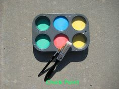 Summer fun! Sidewalk chalk paint