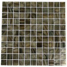 Mother Of Pearl Smoked Wood Tile. Classy look. But aren't mini tiles going out of style?