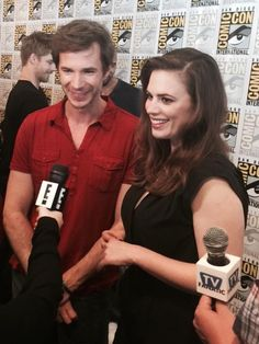 Hayley with James D'arcy Hayley Elizabeth Atwell, Hayley Atwell, Peggy Carter, Agent Carter, Marvel Women, Marvel Dc, James D'arcy, Celebs, Celebrities