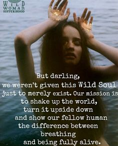 we weren't given this wild soul just to merely exist