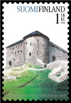 The Raseborg Castle is a 14th  century medieval castle in Raseborg, Finland. Finland stamp, circa 2014