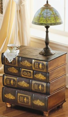 Library Book Side Table... something similar to the homegoods table.