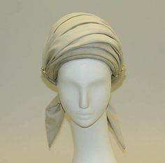 Hat | Halston (American, 1932-1990) | Date: ca. 1970 | Material: silk | The Metropolitan Museum of Art, New York