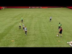 Soccer Coaching Possession Drill: Combination Play - YouTube
