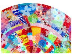 recycled plastic bag mandala art