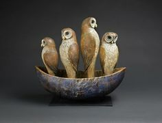 Hib Sabin Sculpture. I recently got to hold and pet a barn owl that looked just like these.