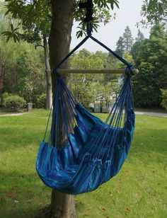 SueSport Hanging Rope Chair – Swing Hanging Hammock Chair – Porch Swing Seat – With Two Cushions – Lbs, Blue Hanging Hammock Chair, Hammock Swing, Swinging Chair, Hanging Chairs, Hammocks, Hanging Rope, Hammock Ideas, Indoor Swing, Camping Hammock