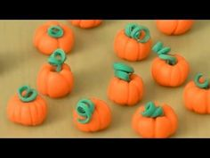▶ How to Make a Fondant Pumpkin by Cookies Cupcakes and Cardio - YouTube