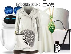 Even a robot would look great in this Wall-E inspired Eve outfit.  | Disney Fashion | DisneyFashion Outfits | Disney Outfits | Disney Outfits Ideas | Disneybound Outfits |