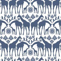 Hawthorne Threads - Zambezi - Giraffe Tribe in Midnight