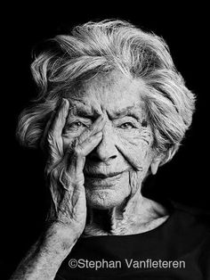 Beautiful old lady. Photographer: Stephan Vanfleteren