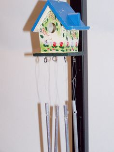 Birdhouse Windchime (Blue)