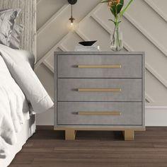 Bedside Storage, 3 Drawer Nightstand, Dresser With Mirror, Nightstands, Bedroom Furniture, Bedroom Decor, Master Bedroom, Bedroom Colour Palette, Desktop