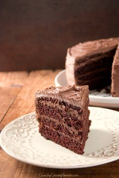 4 layer chocolate cake - The Best Chocolate Cake @Anna Totten | Crunchy Creamy Sweet