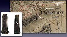 """Hoard of two flanged axes from Brasov, Romania. Localization of the findspot (dealul spanzuratorilor, """"gallows hill"""") on a map sheet of the Josephinian survey. More Info: https://www.academia.edu/7594288/A_small_bronze_hoard_from_Kronstadt_Galgenberg_._A_contribution_to_the_understanding_of_cultural_landscapes_in_Middle_Bronze_Age_southeastern_Transylvania"""
