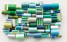 blue and green threads Clementine Art, Sewing Hacks, Sewing Projects, Sewing Tips, Sewing Tutorials, Sewing Ideas, Sewing Patterns, Blue And Green, Yellow