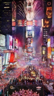 New Year Eve On Times Square NYC