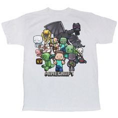 Minecraft Party Youth Tee White Large @ niftywarehouse.com #NiftyWarehouse #Minecraft #Geek #Gaming #VideoGames