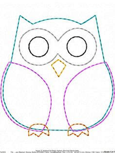 ITH Owl Raggy Applique DIGITAL Embroidery Design You are in the right place about embroidery shoes Here we offer you the most beautiful pictures about the embroidery tree you are looking for. Owl Sewing Patterns, Felt Animal Patterns, Applique Patterns, Stuffed Animal Patterns, Quilt Patterns, Owl Applique, Applique Design, Motifs D'appliques, Embroidery Designs