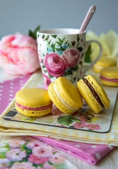 Macarons by kinuskikissa Macarons, Finnish Recipes, No Bake Cookies, Baking Cookies, Egg Decorating, Afternoon Tea, Easter Eggs, Deserts, Good Food