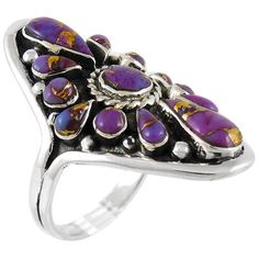 Sterling Silver Ring Purple Turquoise R2034-C77