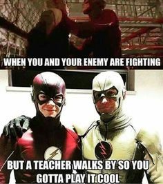 The flash and The reverse flash meme