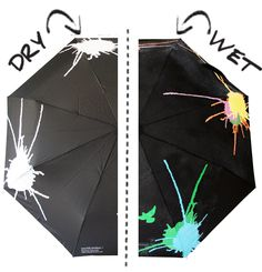 umbrella that changes color when it gets wet