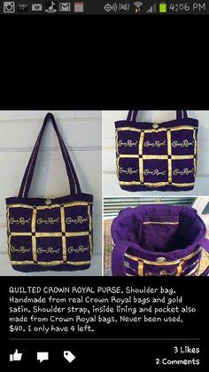 Crown royal purse