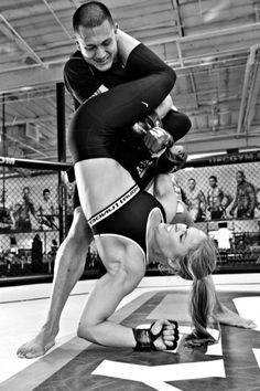 Ronda Rousey for Fitness Rx Women's mag. Flying armbar..