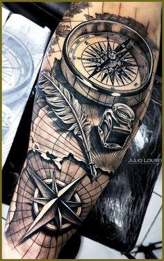 - tattoos sleeve - Einfach nur geil - tattoo old school tattoo arm tattoo tattoo tattoos tattoo antebrazo arm sleeve tattoo Nautical Tattoo Sleeve, Nature Tattoo Sleeve, Best Sleeve Tattoos, Sleeve Tattoos For Women, Tattoo Sleeve Designs, Arm Tattoos For Guys, Tattoo Designs Men, Nautical Tattoos, Dragon Sleeve Tattoos