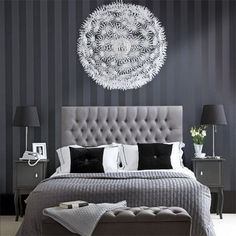 Daily Find: PS Maskros Ceiling Pendant - Check out this beautiful, big thing for your home. Great for a bedroom as in the above pic, or even in a dorm room, I love the drama and lightness of this pendant. Check out the time lapse video of putting it together right here below from Hugo Cornellier.