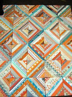 Orange and aqua quilt...baby boy color inspiration