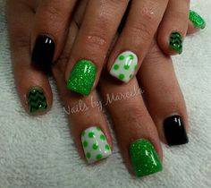 St. Patrick's day nails♪