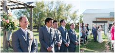 Outdoor wedding ceremony site for Twisted Ranch Weddings; Yellow and Gray wedding in Texas Hill Country