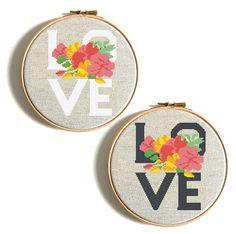 Flower Love Cross Stitch Pattern Wedding Gift Counted