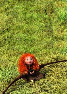 Brave: little merida Disney Dream, Cute Disney, Disney Girls, Disney Magic, Disney Art, Disney And Dreamworks, Disney Pixar, Walt Disney, Brave Disney