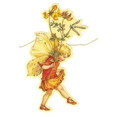 Bird's Foot Trefoil Flower Fairy Scrap Garland ~ England Paper Ornaments, Vintage Ornaments, Childhood Images, Childhood Memories, Fish Logo, Elves And Fairies, Vintage Fairies, Embossed Paper, Flower Fairies