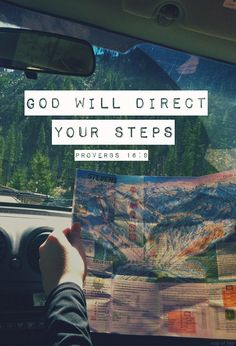 God's will directs your steps.