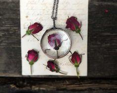 romantic jewellery dried flower terrarium necklace by MARIAELA
