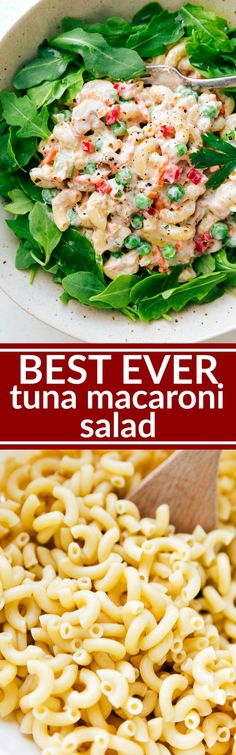 The best macaroni tuna salad bursting with flavor and so simple to make. This salad can be ready in less than 30 minutes! via chelseasmessyapro...