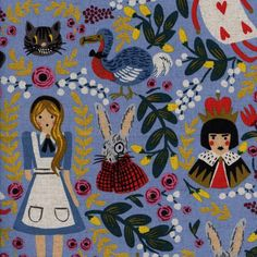 Wonderland by Anna Bond of Rifle Paper Co. for Cotton + Steel 80% cotton, 20% linen canvas Mid weight 1/2 metre (50cm x 110cm, 19 x 43) If you would like continuous yardage please change the quantity in the drop-down menu. Parcels are shipped via small packet international airmail from Japan. Japan Post does not provide tracking numbers for small packet airmail. A shipping upgrade with a tracking number and insurance can be purchased for an additional $5. If you would like to upgrade...