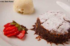 La Finestra - Brownie com calda de chocolate e sorvete de creme (jantar)
