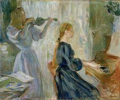 Frame by Frame: Berthe Morisot's 'Mozart Sonata' - The Boston Globe Edvard Munch, Manet, Design Museum, Art Museum, Berthe Morisot, France Art, Portraits, Famous Art, S Pic