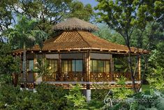 Octogan bamboo house designed by Costa Rican architect Mariela Garcia